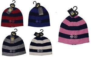 New-Men-039-s-Teen-039-s-Designer-Crosshatch-Blizzard-Striped-Warm-Beanie-Hat-Reversible