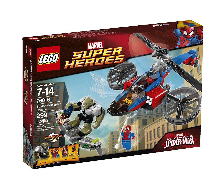 Lego 76016 Marvel Super Heroes  SPIDER HELICOPTER RESCUE Spider-uomo energia uomo nuovo  negozio a basso costo