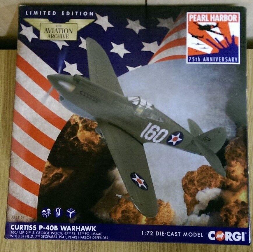 CORGI AA28101 CURTISS P-40B WARHAWK Pearl Harbour DEC 1941 Ltd Ed. 0202 del 1500