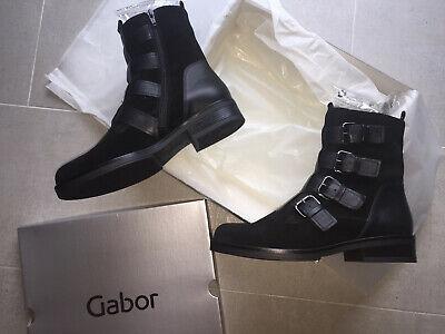 Gabor Stiefeletten Gr. 8 42 schwarz Ledermix aktuell+neu 125 €   eBay