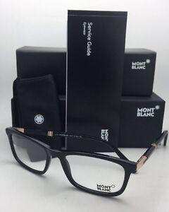 6d9d13406b New MONTBLANC Eyeglasses MB 540 001 55-18 145 Shiny Black Frames w ...