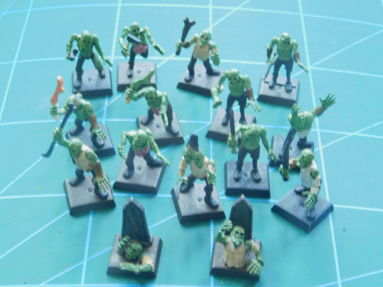 14 warhammer 40k dungeon dragons undead zombie ghoul painted plastic figures
