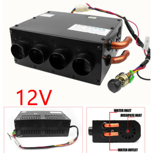 12V Car Underdash Compact Air Heater Warmer Heat Speed Switch Defroster Demister