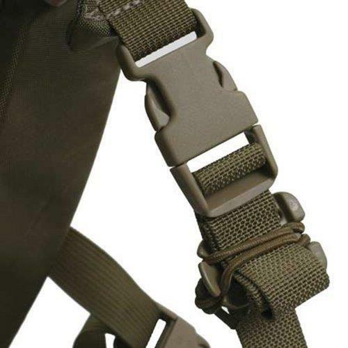 2Pcs Military MOLLE Style Webbing Dominator Elastic Cord Hang Buckle Dark Earth
