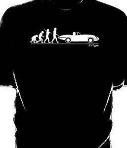 E-Type Jaguar  t-shirt Evolution of Man