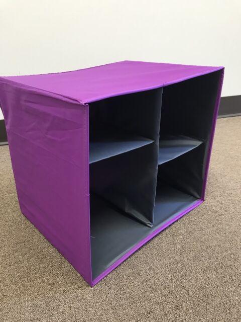 fe61111ea72e Joy Mangano Purple Orchard Collapsible Chic Organize-It-All Storage Cube
