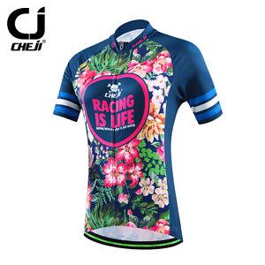 CHEJI Women s Cycling Jersey Mountain Bike Jersey Cycling MTB Shirt ... f54a62f8f
