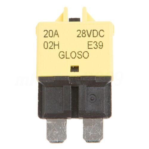 40 ~ 85 ° C 5-30A Blade 28V DC Sicherungsautomat rücksetzbar Boot Betrieb