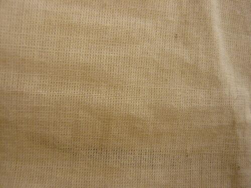 3mts naturel 100/% coton voile tissu artisanat ameublement tapisseries etc.
