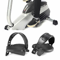 1/2 Thread Exercise Bike Pedals With Adjustable Straps Home Gym Bicycle Black