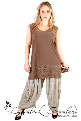 MAGNA-Look Top//shirt A-ligne /& DENTELLE TAILLE 44 46 48 50 52 54 56 58-Nouga