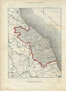 Marche Cartina Geografica Politica.Carta Geografica Antica Marche 1891 Old Antique Map Ebay