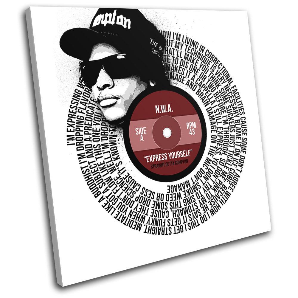 N.W.A express yourself Lyrics Lyrics Lyrics Song Record Vinyl Canvas Wall Art Picture Print 5f34ed