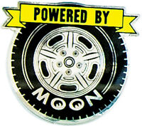 Mooneyes Powered By Moon Tire Sticker Adhesive On Back Gm Hot Rod Decal Rock