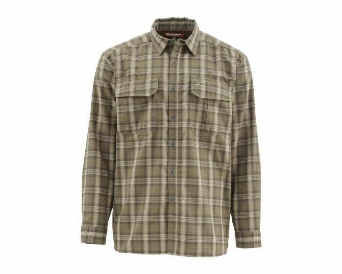 Simms - Coldweather Long Sleeve Shirt -Canteen Plaid Größe Large - Closeout