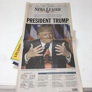 NEWSPAPER-NOVEMBER-9-2016-DONALD-TRUMP-HILARY-CLINTON-ELECTION-Win-Newsleader
