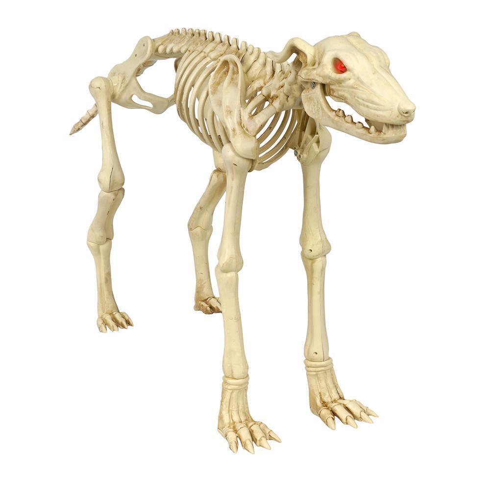 Zu hause akzente halloween 26 animierte skelett grauhound mit led - beleuchteten augen