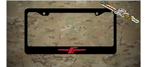 Forester Stealth Logo Plastic License Plate Frame JDM Vinyl Decal Red