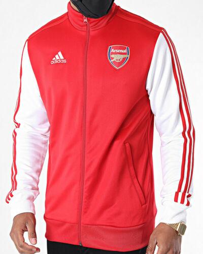 Arsenal Fc Adidas Giacca tuta sportiva 2020 21 Track Top 3 Stripes UOMO Rosso