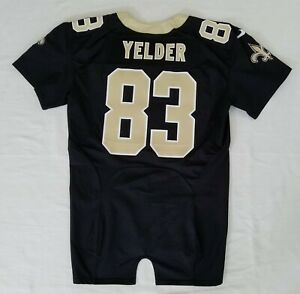 83-Deon-Yelder-of-New-Orleans-Saints-NFL-Equipment-Room-Team-Issued-Jersey