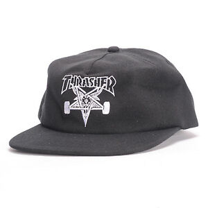 bb291efb822 Thrasher Skate Goat Wool Blend Snapback (black) Hat for sale online ...