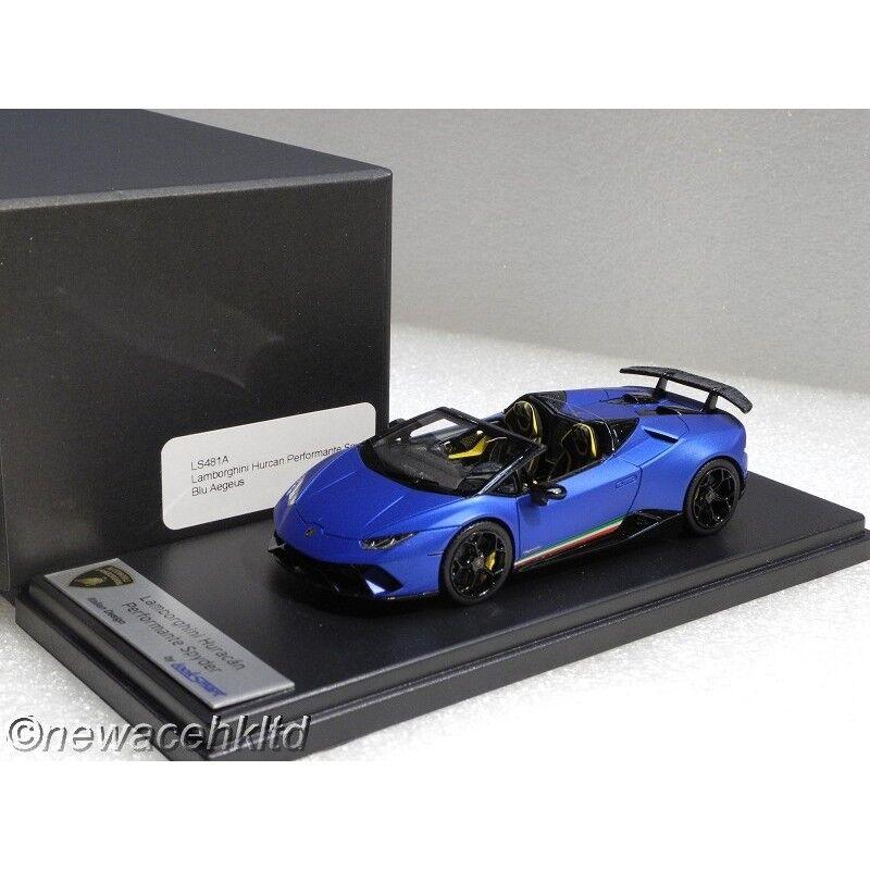 Lamborghini Huracan performante Spyder bleu cacha Looksmart Modèle 1 43  LS481A