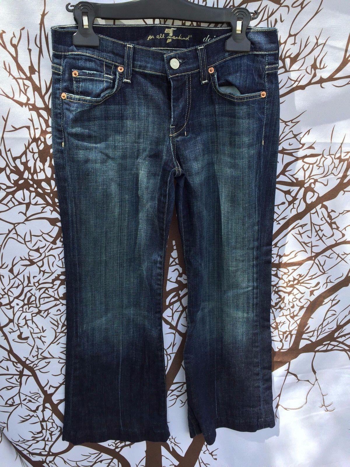7 For All Mankind Jeans DOJO Flip Flop Women Size 26 Inseam 26 FLARE Pants Denim