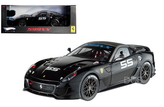 fino al 70% di sconto Caliente Ruedas Elite Ferrari 599 Xx  55 55 55 1 18 Nero Pressofuso  memorizzare