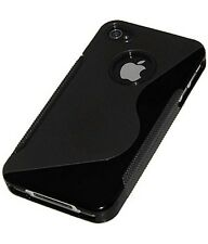 2 x Black TPU case cover for iphone 4 4s