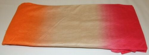 Echo Pink Orange /& Beige Oblong Neck Scarf Shawl Wrap 20 x 80 Light Weight