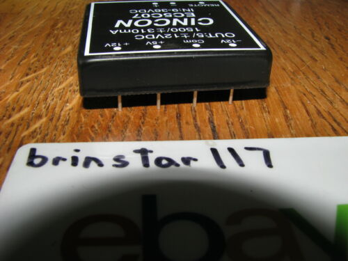 12V 1500mA 15W 12V NEW CINCON E5C07 DC//DC CONVERTER INPUT 9-36V OUTPUT 5V