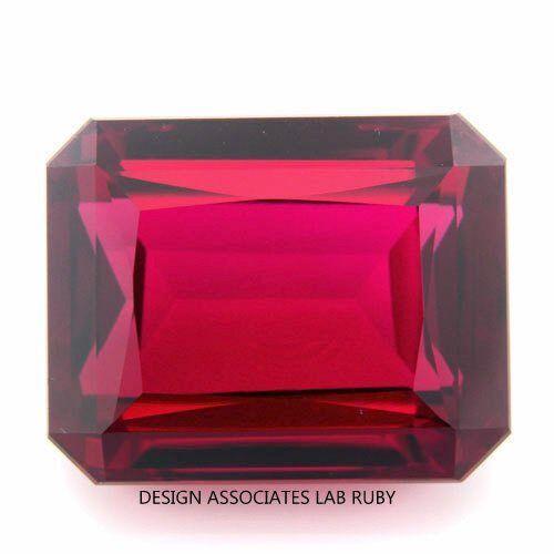 corte esmeralda de hombre hecho Ruby AAA grado 16x12 mm