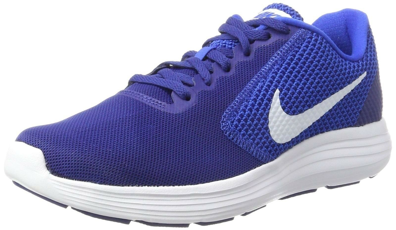 NIKE Men's Revolution 3 Running shoes, Deep Royal bluee White Hyper Cobalt, 10....