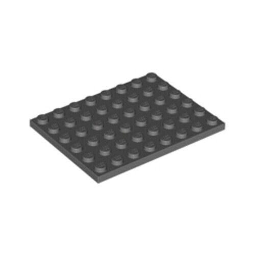 LEGO 4x Genuine scuro Grigio Pietra 6x8 PIASTRA sottile piastrella con borchie 4210794 3036-NUOVO