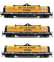 Set Of 3 Ho Scale Atlas Bethlehem Steel Covered Coil Cars Model Railroad Trains