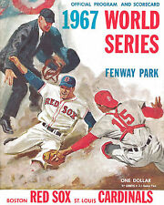 1967 CARDINALS VS. RED SOX WORLD SERIES PROGRAM MLB BASEBALL 8X10 PHOTO PICTURE