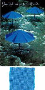 Christo-Umbrellas-Japan-hand-signed-postcard-fabric