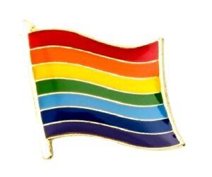 Rainbow Flag Badge Metal Pin Lapel Gay LGBT