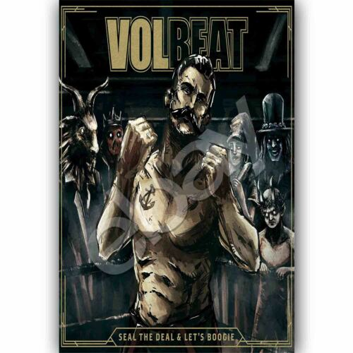 New Silk Poster Wall Decor Volbeat Seal The Deal /& Let/'s Boogie