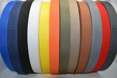 High Quality Polypropylene Webbing Strap Tape Choice of Colour Width and Length