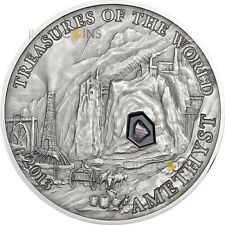 5 $ 2013 Palau - Treasures of the world - Amethyst