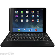 ZAGG Folio Case Hinged With Backlit Bluetooth Keyboard for iPad Air 2