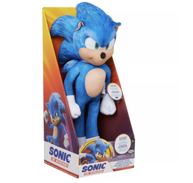 Sonic the Hedgehog MOVIE Sonic Talking 13-Inch Plush NEW 2020 IN HAND SHIPS FAST