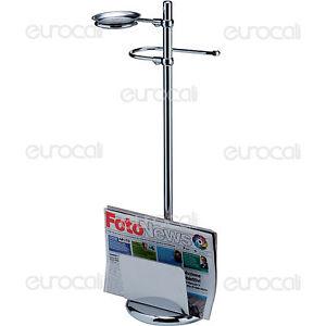 Piantana porta rotolo riviste posacenere in metallo accessori arredo bagno pt07r ebay - Riviste arredo bagno ...