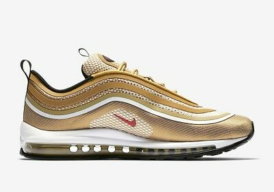 new style Men Nike Casual Air Max 97 Ultra GoldRed Ebay