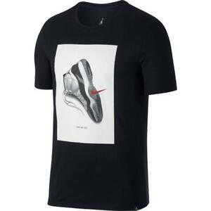 b21c15f2f8dcd7 Nike Air Jordan Retro 11 T Shirt 914459-010 Concord XI Black White ...
