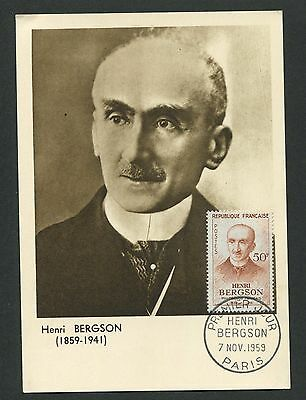 Maximumkarten France Mk 1959 Bergson Philosoph Maximumkarte Carte Maximum Card Mc Cm D4861 Mit Den Modernsten GeräTen Und Techniken