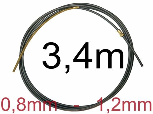 Charcoal Teflon Soul 3m Wire Spiral Wire Soul Wire Guide MIG//MAG 0,8-1,2 mm 3 M