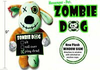 Zombie Dog Halloween Fun Window Decoration For Dog Lovers Great Gift play Dead