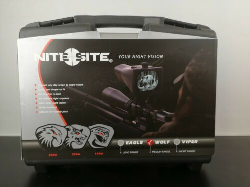 Nitesite WOLF Night Vision Scope 300M Nite-Site-Nuovo con Custodia